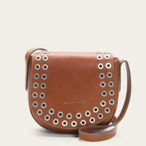 FRYE Cassidy Saddle Bag Crossbody Rust